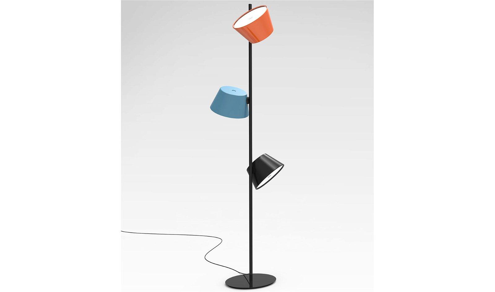 Lámpara de pie 3 pantallas Tam Tam Marset