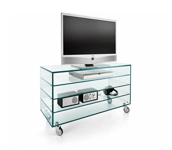 Mueble tv cristal Como alto Tonelli