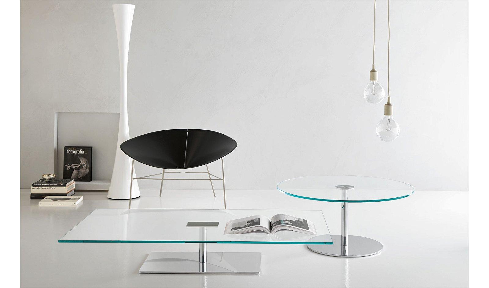 Mesa de centro redonda cristal Farniente Tonelli