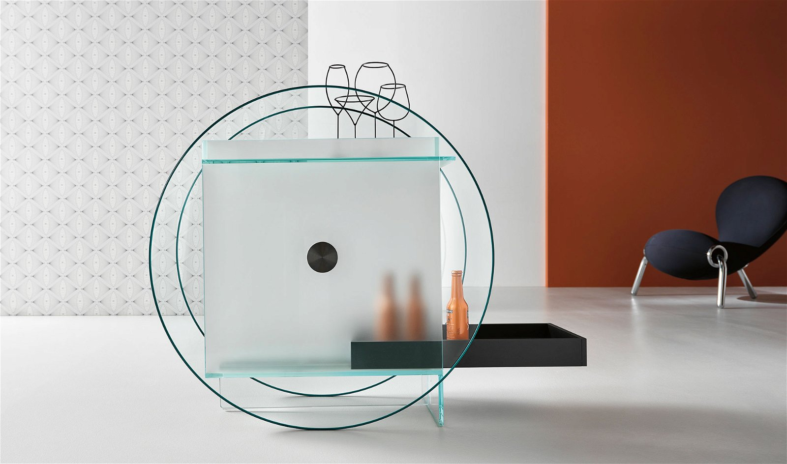 Mueble bar cristal Kart Tonelli