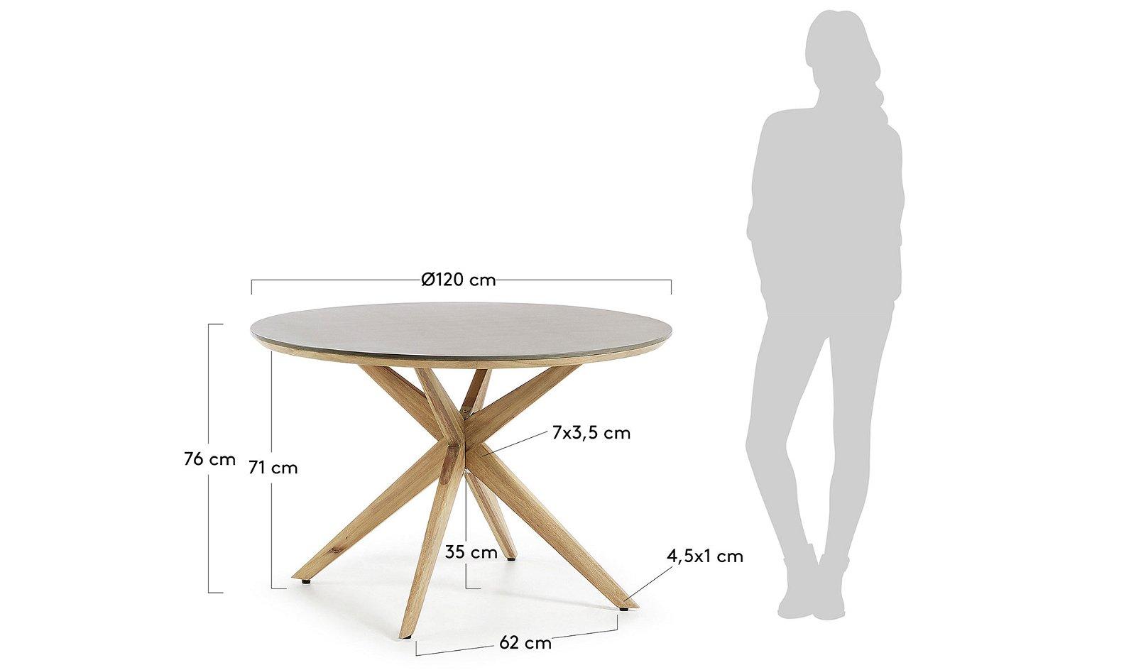 Mesa de comedor redonda cemento Juliette