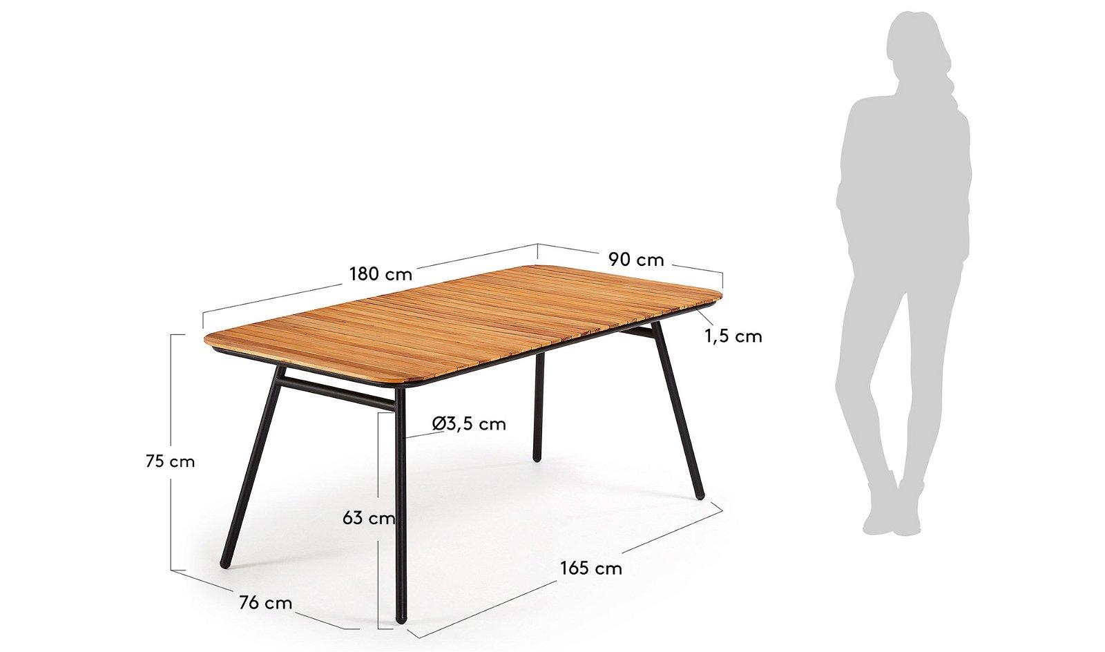 Mesa de comedor acacia natural Doska