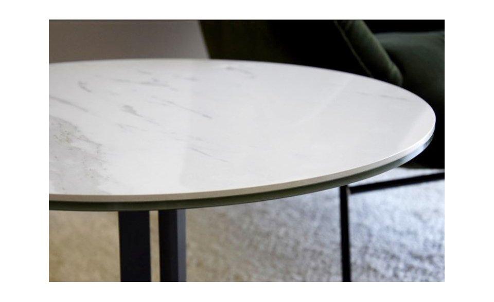 Mesa Auxiliar tapa cerámica y base metálica
