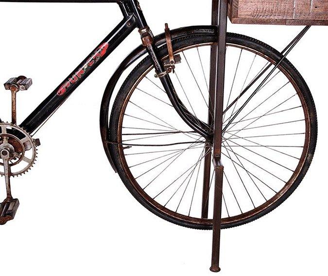 Consola base bicicleta negra Kalbe