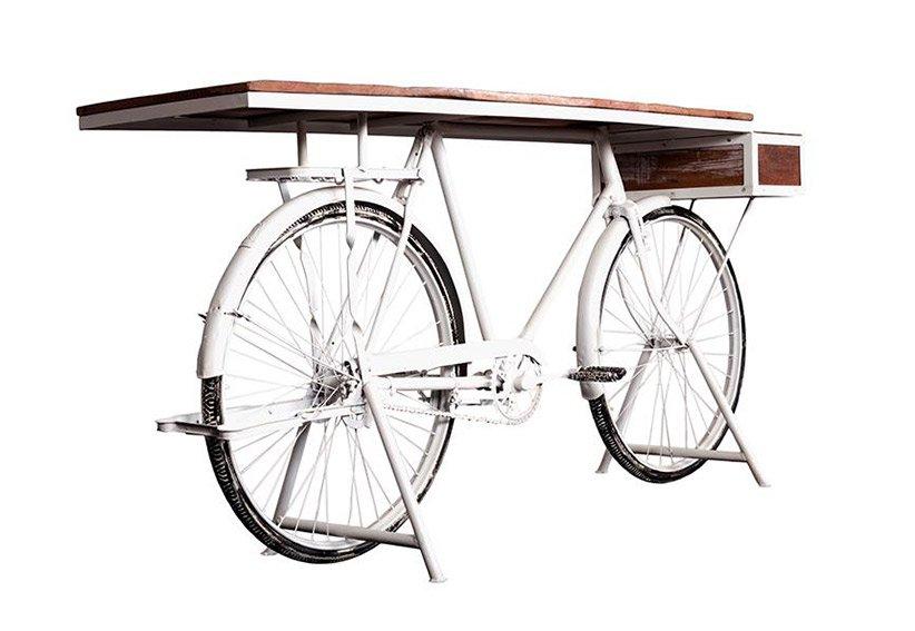 Consola base bicicleta blanca Kalbe