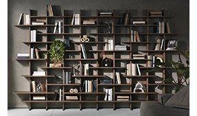 Librería modular de diseño Elisabeth de Pacini e Cappellini