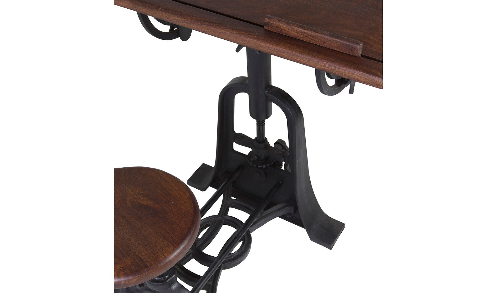 Mesa de escritorio con taburete industrial Pipa