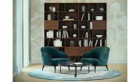 Librería nogal de diseño Mastroianni