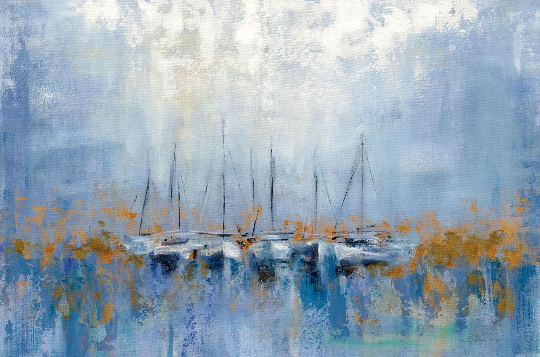 Cuadro canvas boats in the harbor