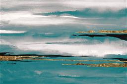 Cuadro canvas gilded storm
