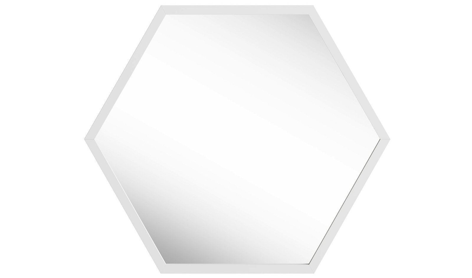 Espejo roble hexagonal nórdico Osaka