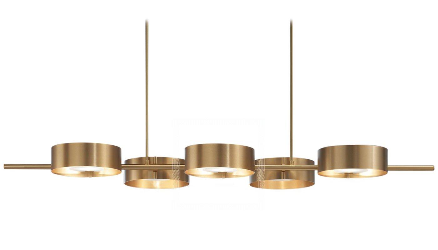 Lámpara de techo dorada Sound Bild 5