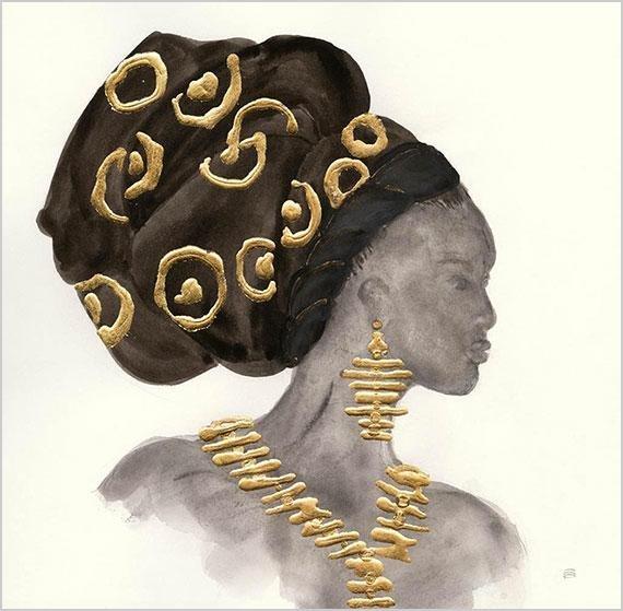 Cuadro canvas headdress beauty I
