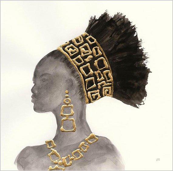 Cuadro canvas headdress beauty II