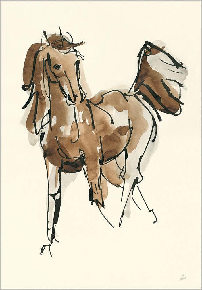 Cuadro canvas sketchy horse VI