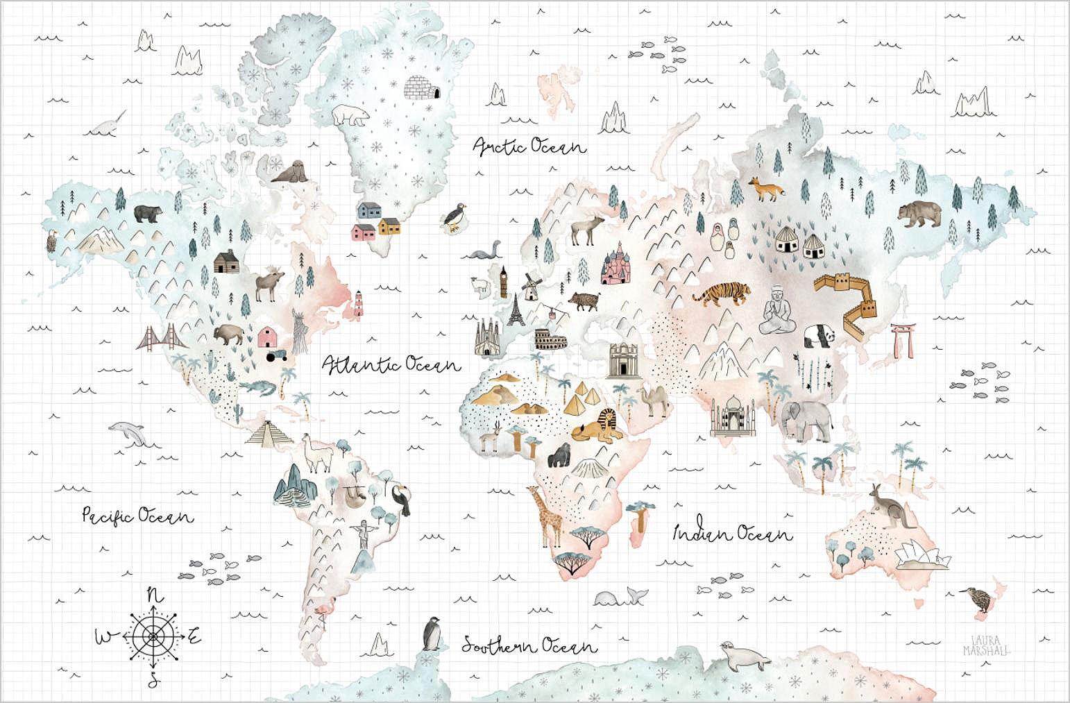 Cuadro canvas world traveler