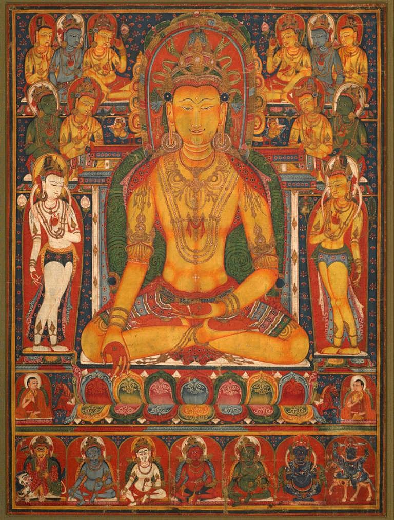 Cuadro canvas buddha ratnasambhava