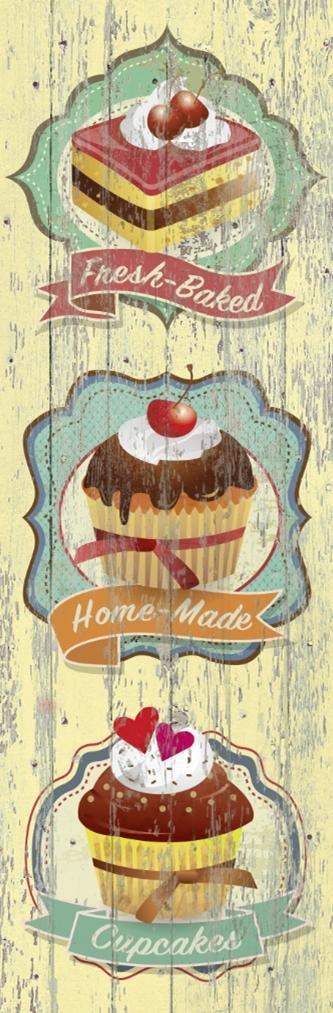 Cuadro canvas fresh baked cupcakes