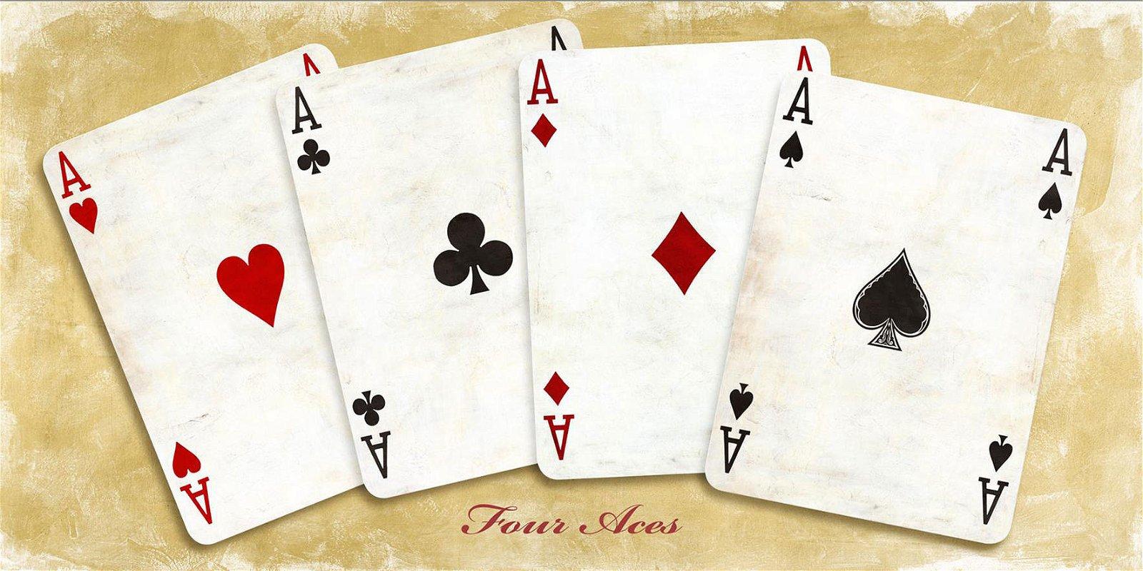 Cuadro canvas four aces
