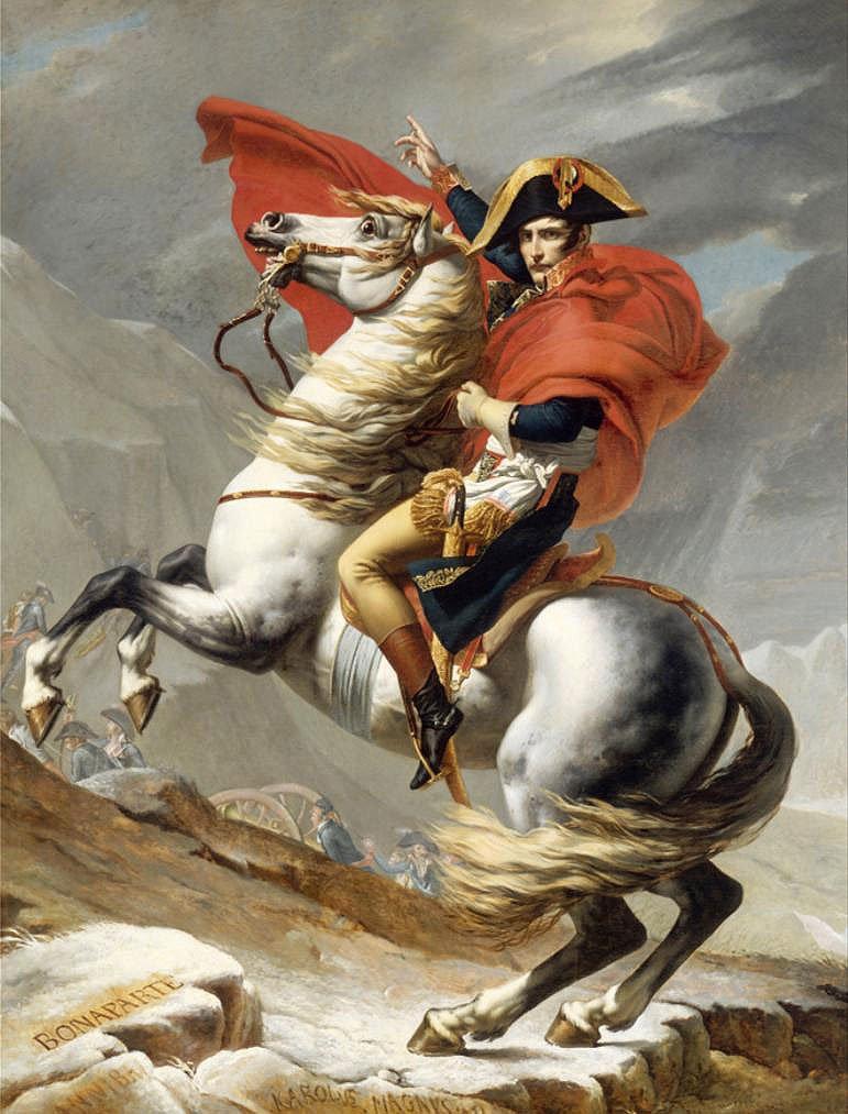 Cuadro canvas napoleon bonaparte franchissant le g