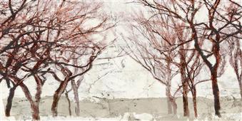Cuadro canvas rusty trees