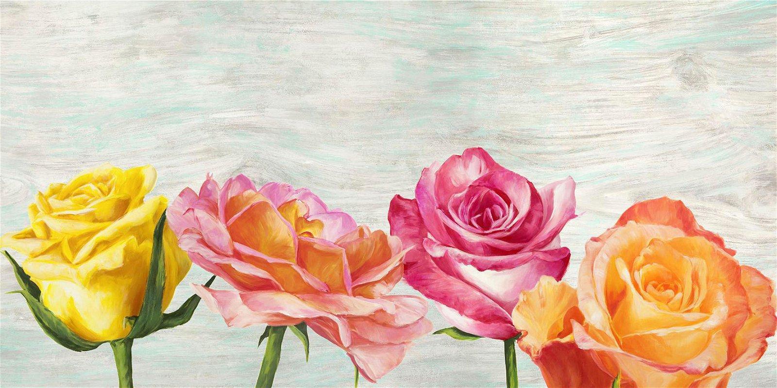 Cuadro canvas funky roses