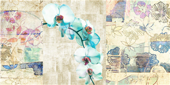 Cuadro canvas kaleidoscope orchid II