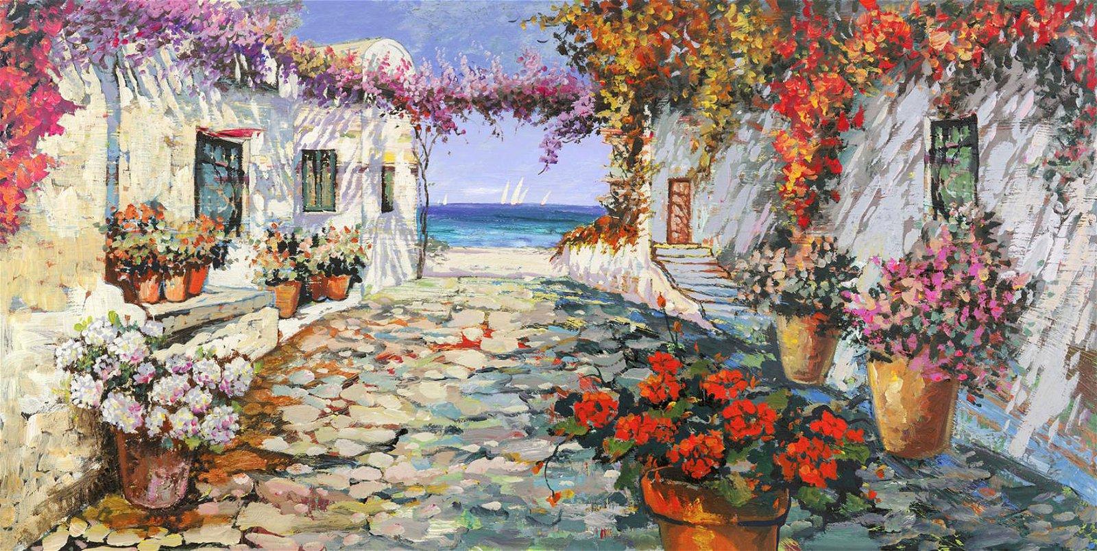 Cuadro canvas piazetta mediterranea