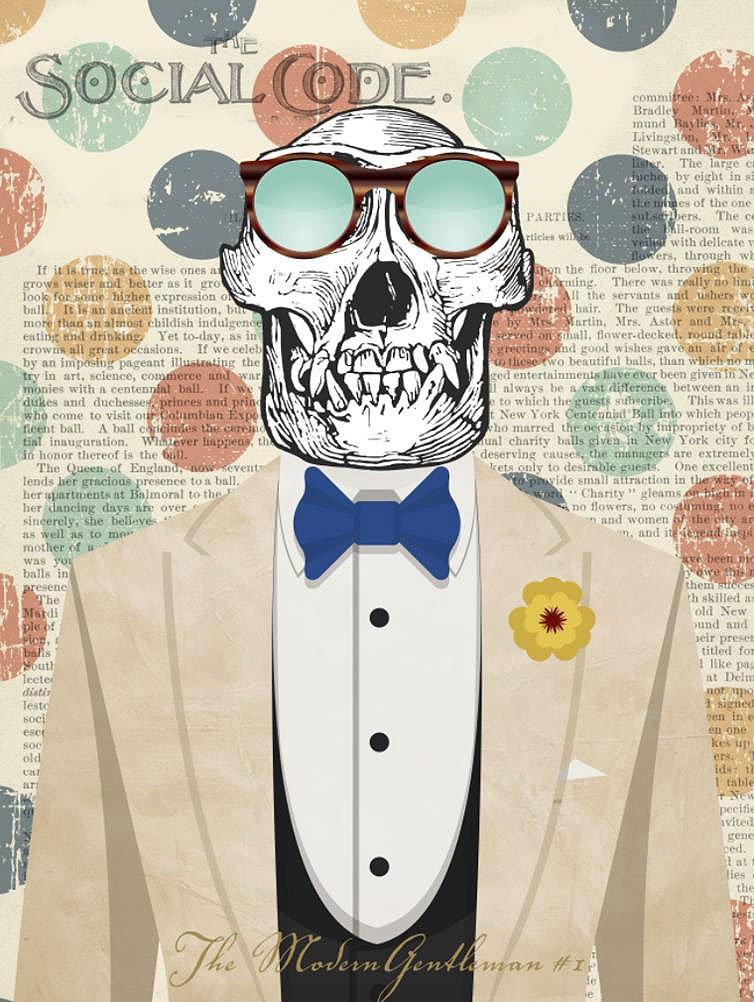 Cuadro canvas the modern gentleman 1