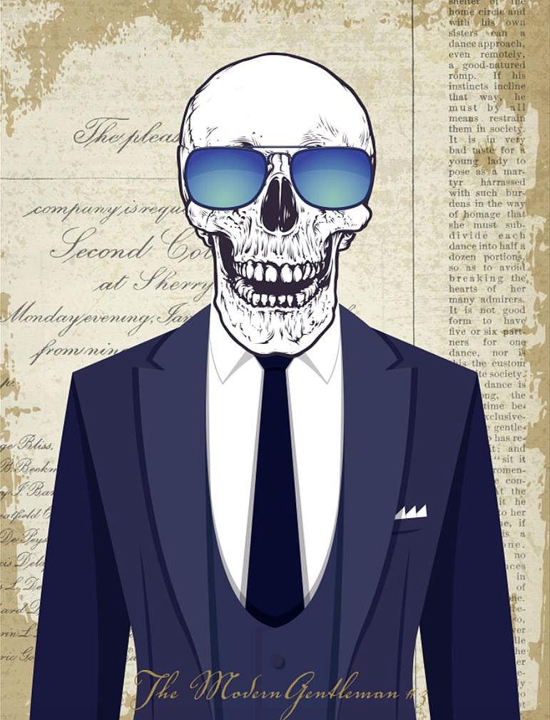 Cuadro canvas the modern gentleman 3