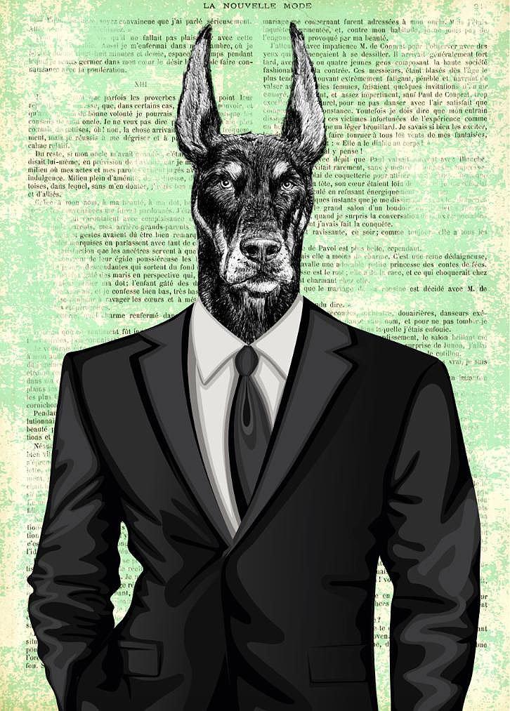 Cuadro canvas distinguished gentleman