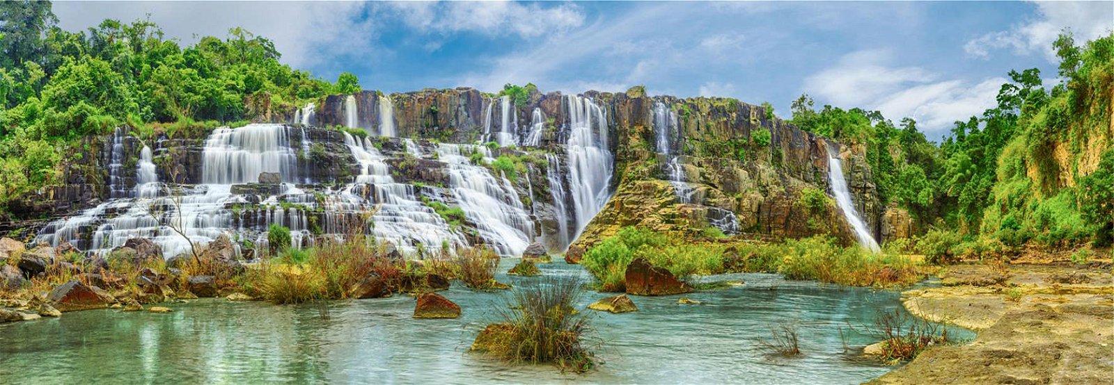 Cuadro canvas pongour waterfall vietnam