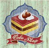 Cuadro canvas cake shop
