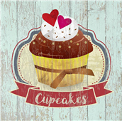 Cuadro canvas cupcakes