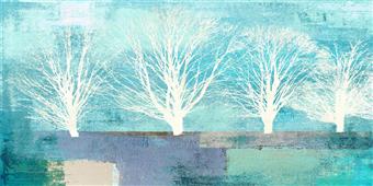 Cuadro canvas tree lines I