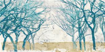 Cuadro canvas turquoise trees