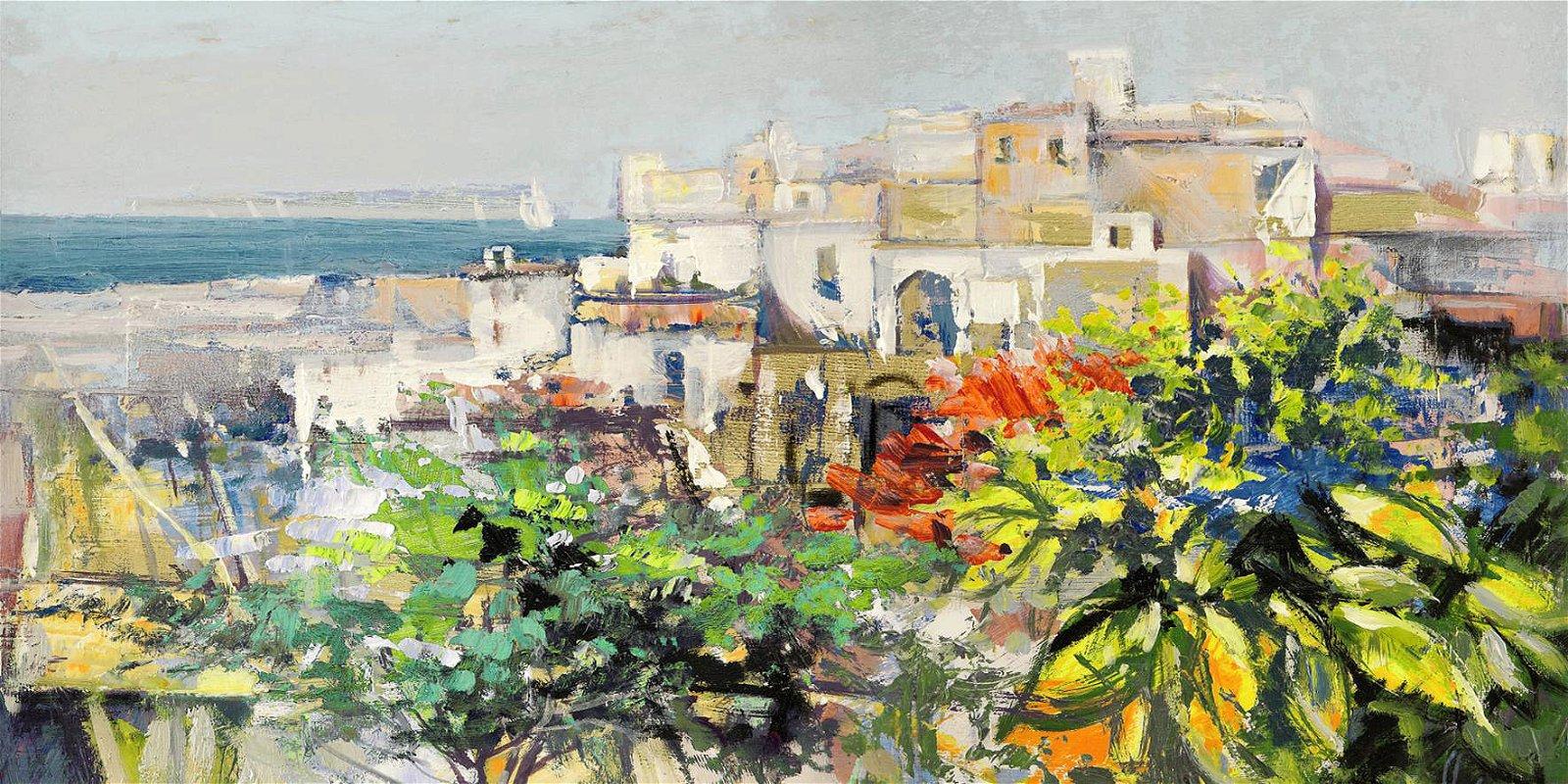 Cuadro canvas meriggiare mediterraneo
