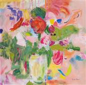 Cuadro canvas pink impressionism