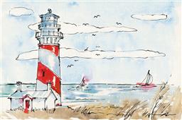 Cuadro canvas coastal life I