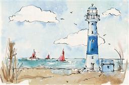 Cuadro canvas coastal life II