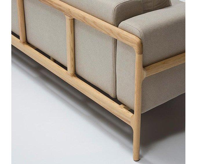 PORTOBELLO sofá fresno y tela beige