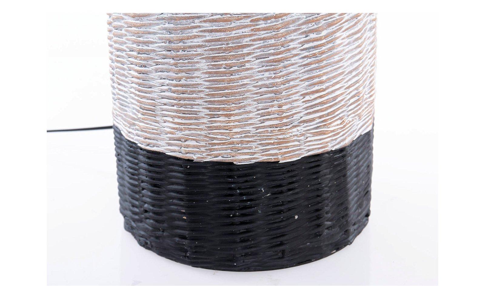 Lámpara de sobremesa cerámica natural y negro