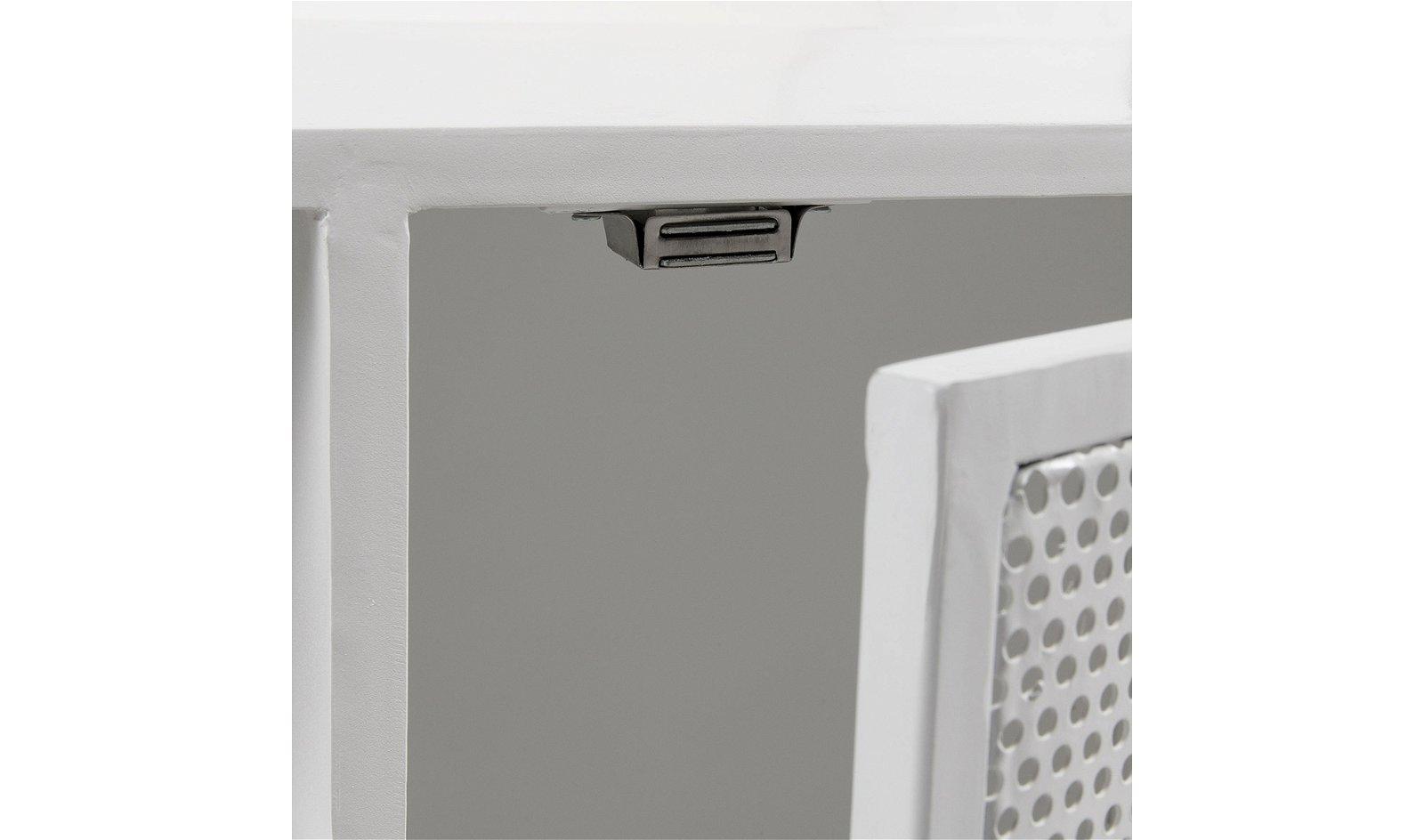 Mueble tv industrial blanco Rita
