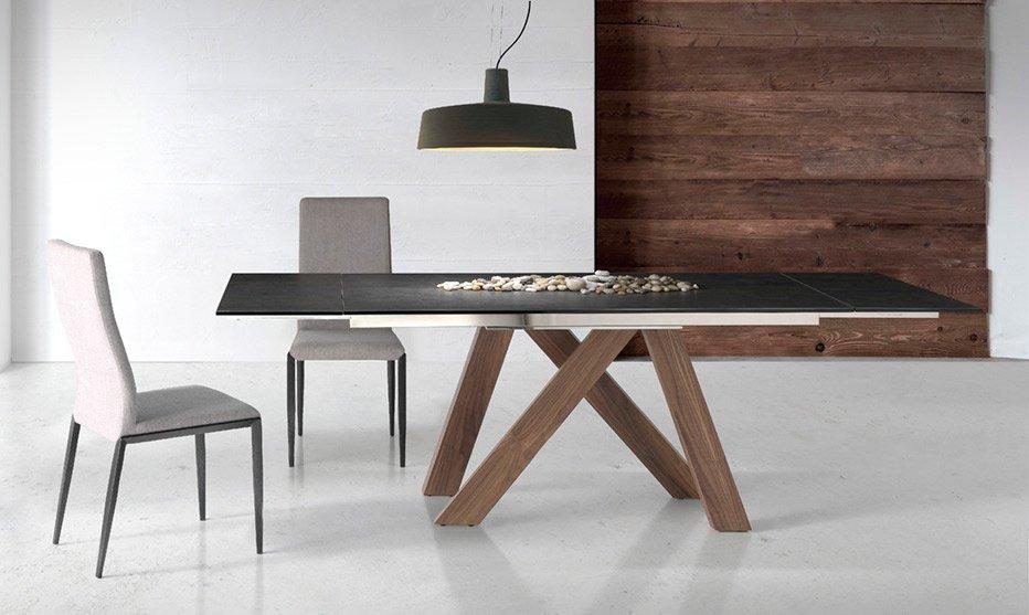 Mesa de comedor extensible madera Tree