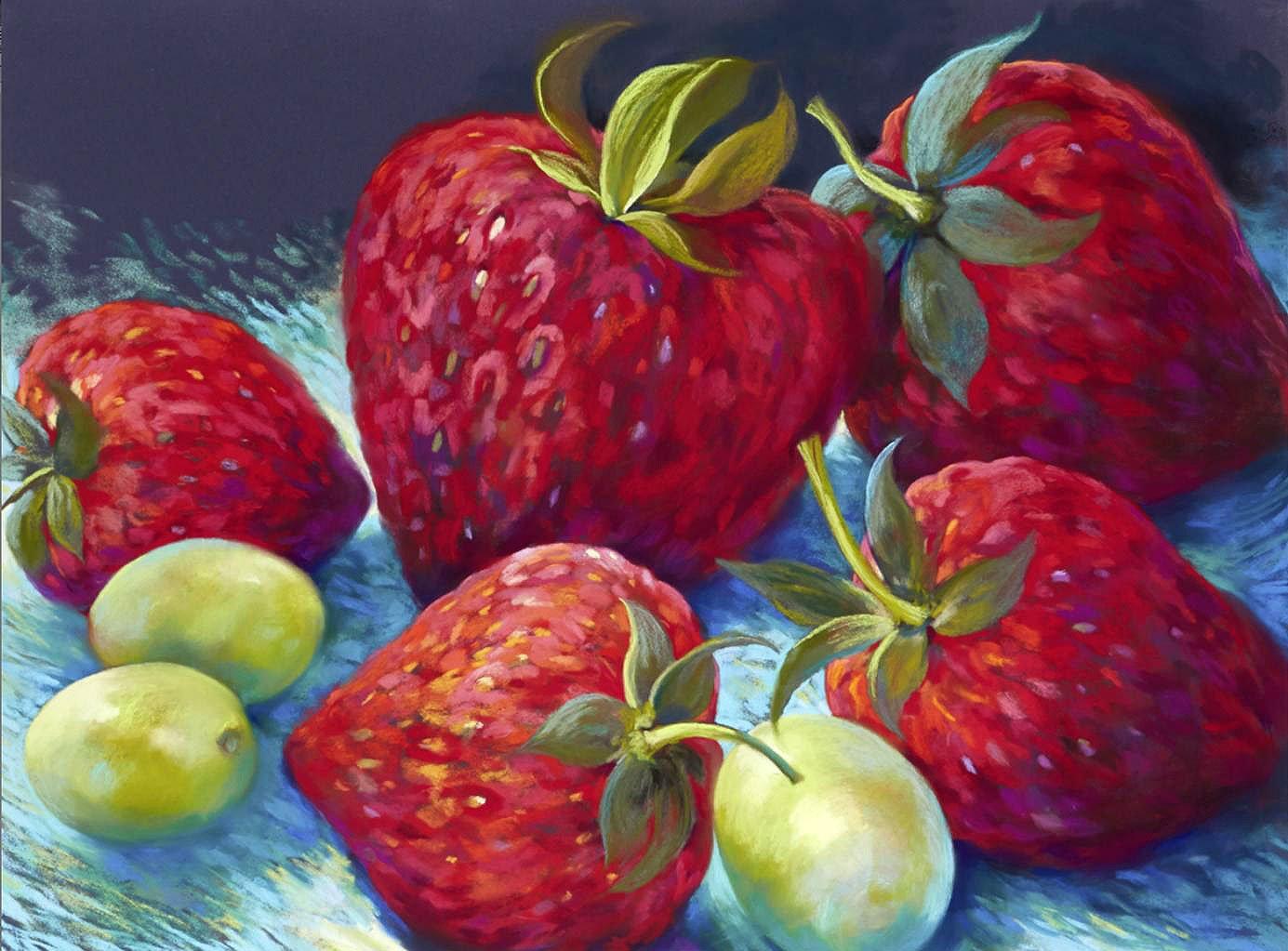 Cuadro canvas fresas
