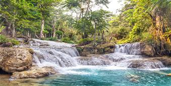 Cuadro canvas kuang si falls luang prabang laos