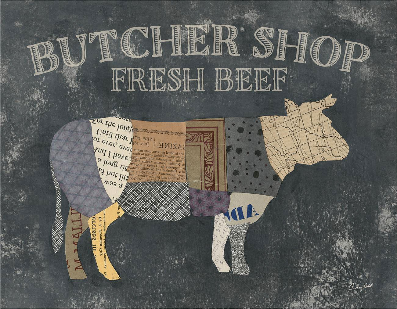 Cuadro canvas from the butcher XIII