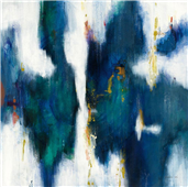 Cuadro canvas textura azul I