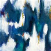 Cuadro canvas textura azul II