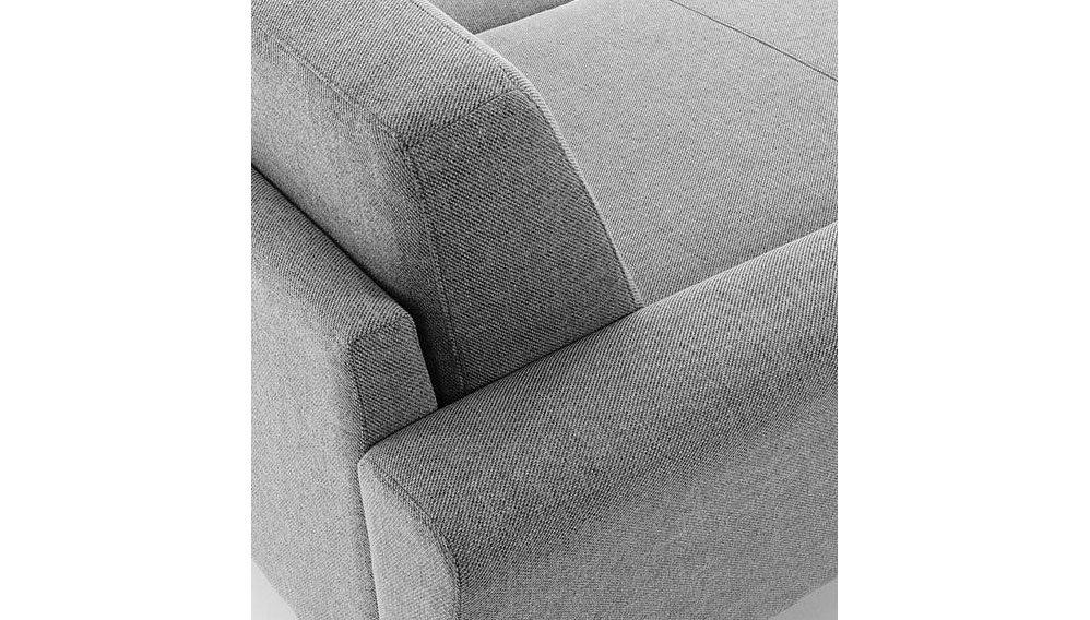 Sofá gris de 2 plazas con chaise longue